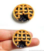 Miniature Blueberry Pie by Bon-AppetEats