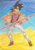 Saiyuki DBZ crossover Son Goku by tokicandy