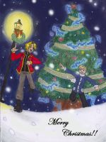 Elric Brother's Christmas v2 by TwilightAlchemistX16