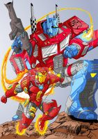 3 Optimus And Ironman by bboyQueso