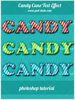 Candy Cane Text Effect by PsdDude