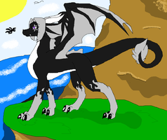 new oc..CALISTAR THE DRAGONESS by pheonixfoxblood24