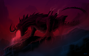 Dragon-first speed painting test by MiG-05