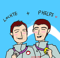 Lochte And Phelps by heavyheart33