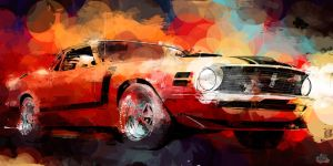 70 Mustang by ThePhelp