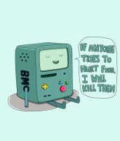 Don't mess with BMO by Geencer