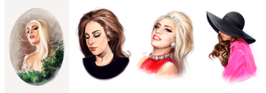 Lady Gaga speedpaint by AnnikeAndrews