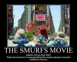 Smurfs Movie Demotivational by Werewolfsbane