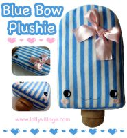 Blue Bow Plushie Lolly by fuzzy-jellybeans