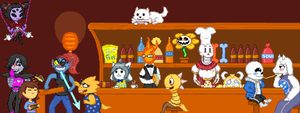 A normal day in Grillby's - DC #2 (Complete) by SamPixeler