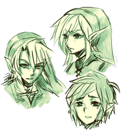 LoZ -- 3 heroes of courage by onisuu