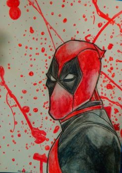 Water Color Deadpool by WowLovely88