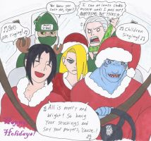 Akatsuki X-Mas Car Ride by swirlheart