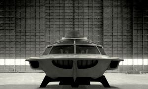 Proteus submarine in hangar - front view by janitor35