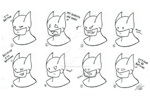 Expressions of a Bat by OtakuRavage