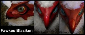 Fawkes Blaziken Face by WyrmsRoost