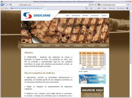 Site do Sindicato de Carnes GO by mediatom