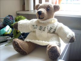 jossie bear with sweater by LadyNespa
