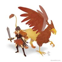 Griffin Warrior by AlyssaTallent