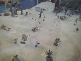Star Wars Exhibition - Hoth's battle by Garci-The-Raccoon