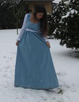 Blue dress in Snow 6 by NaomiFan