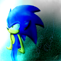 Sonic the hedgehog -  Blue Blur by Jazz-M-Ink