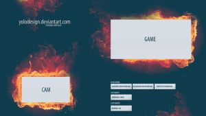 FREE PSD LAYOUT OVERLAY STREAM TWITCH by yolodesign