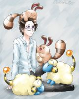 APH Austria and Pokemons by Eeveetachi