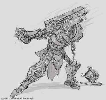1511 Golem Warrior Champ by alswns3421