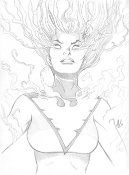 Jean Grey - Phoenix by Marc-F-Huizinga