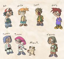 Pokemon Characters by Krizteeanity