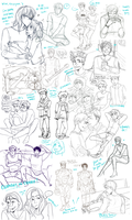 huge sketch dump by Aymeysa