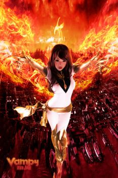 Flames UP White Phoenix by VampBeauty