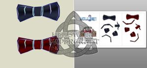 Doctor Who Eleventh's Bowtie Papercraft by HellswordPapercraft
