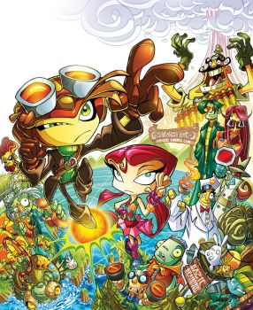 Psychonauts pin-up colors by Diego-Rodriguez