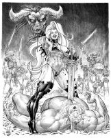 Lady Death Victorious:commission by Jebriodo