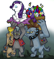 MLP Diamond Dogs by FauxBoy