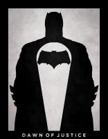 Batman V Superman: Batman Poster Minimalist by PhasR-51