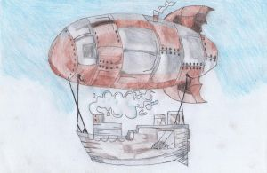Steampunk Airship by Inventor757