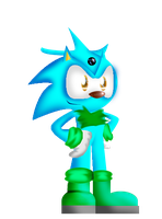 3D project 3:P.k the hedgehog by Steel-The-Cat-Hog