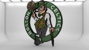Boston Celtics 3D logo by pgilladdy