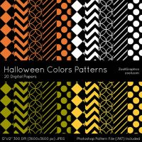 Halloween Colors Patterns by MysticEmma