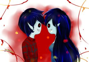 Marchall Lee and Marceline by Yui-Atsuko