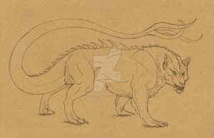 Commission #18 - Ukaran Hybrid Form by DelusionalPuffball