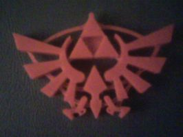 3d printed triforce and crest by warground-inc