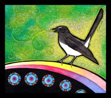 Willie Wagtail as Totem 02 by Ravenari