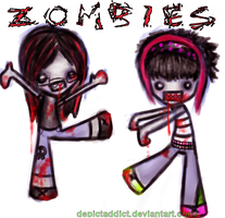 Zombiieees. :0 by DepictAddict