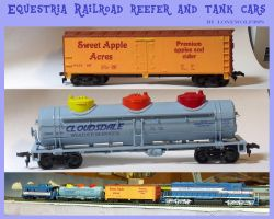 Equestria Railroad Reefer and Tank Cars - HO scale by lonewolf3878