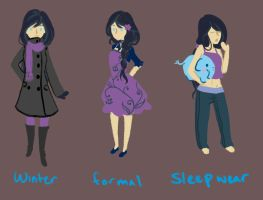 Outfits 1: Jacky by VeloursRose