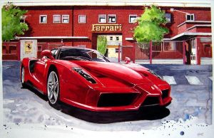 Enzo at Home by ferrariartist